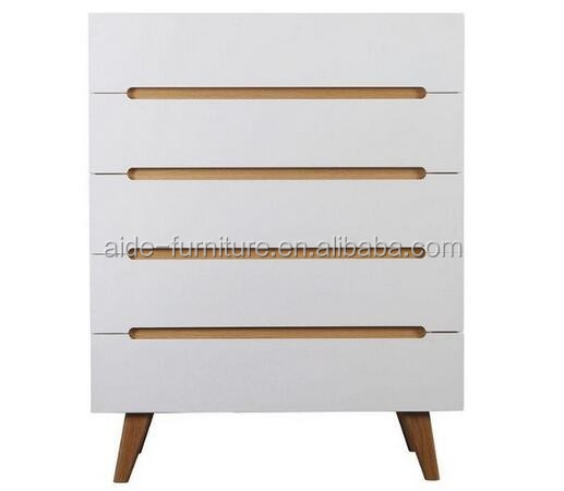 high quality modern white wood cabinet with drawers