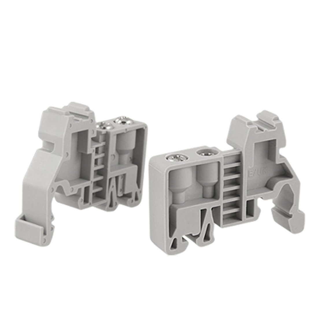 uxcell 2 Pcs 35mm Din Rail Screw Fixed Terminal Block End Stopper Clamps