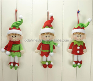 Creative New Christmas Gift Idea 2018 Cute 10'' Soft Stuffed Toy Plush Christmas Hanging Elf Doll