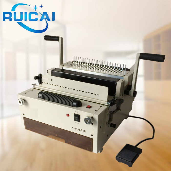 4 in 1 Function Electric Spiral Coil Comb Wire Calendar Binding Machine