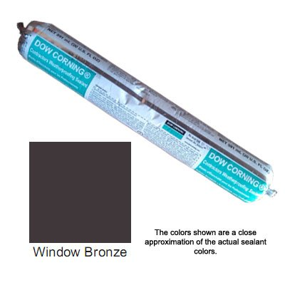 Window Bronze Dow Corning Contractors Weatherproofing Sealant (CWS) - Sausage