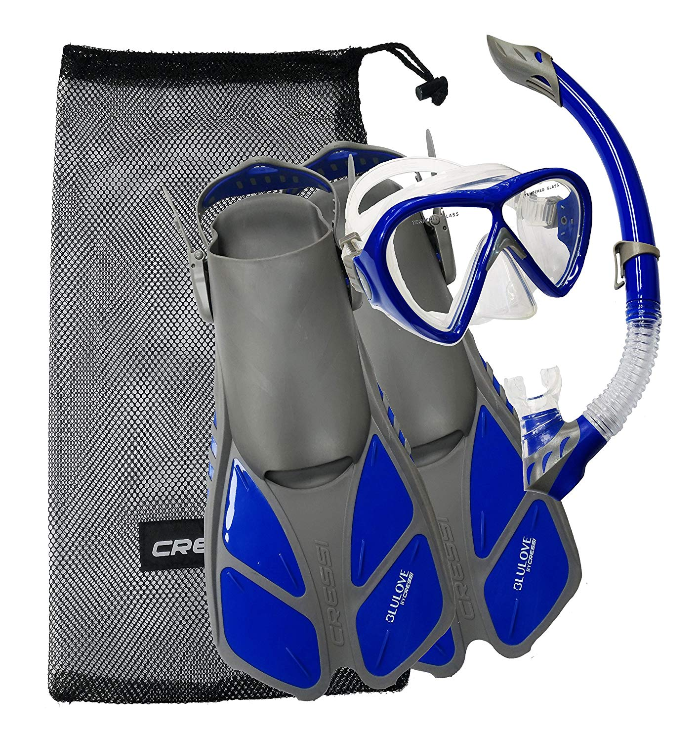 Get Quotations Cressi Bonete Set Mask Fin Snorkel Snorkeling With Bag Quality
