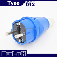 INDUSTRIAL CEE POWER SCHUKO GERMAN EUROPEAN PLUG 2 PIN ROUND PIN ELECTRIC PLUG 012 16A 220V 2P+E