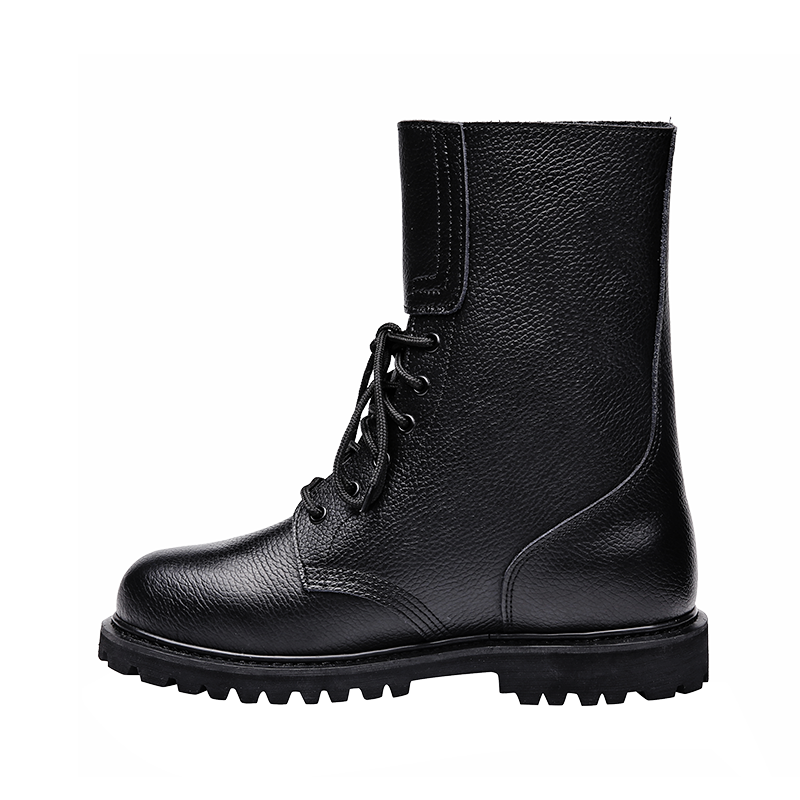 Xinxing black military duty boots army for tactical police officers buckle closure goodyear process MB45