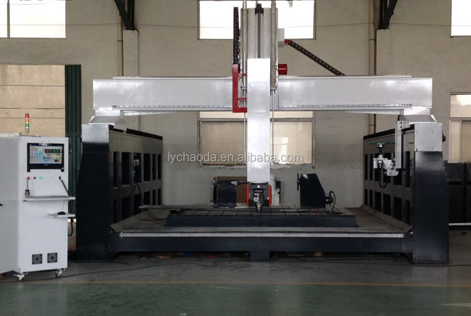 5 axis cnc spindle machine with Italy 12kw vem / stone countertop cutting machine