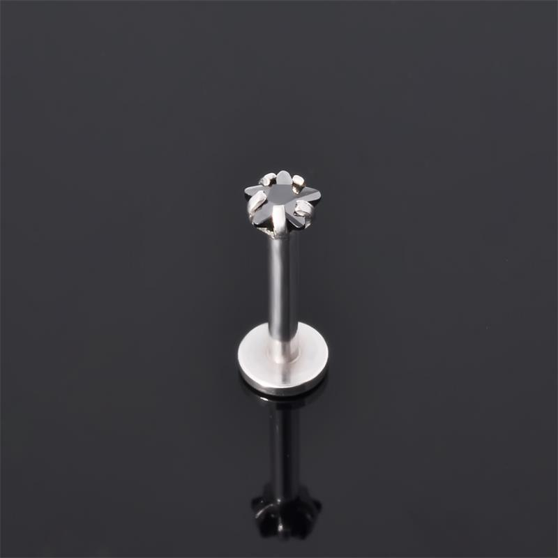 ASTM F136 wholesale G23 titanium threadless push pin labret studs piercing lip stud