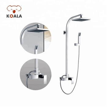 Antique Uk Style Brass Chrome Bathroom in Wall Bath Mixer Waterfall Handheld 2-way Water Shower Tap