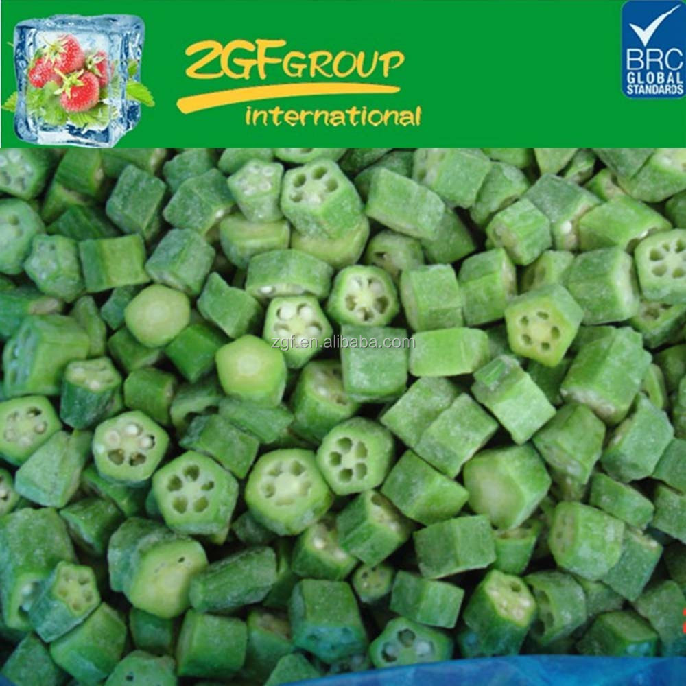 Frozen organic fresh okra in stock