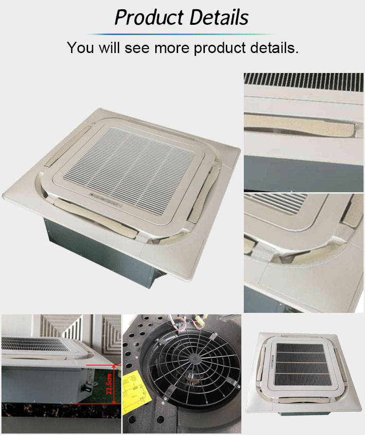 Chilled Water Duct Ceiling Mounted Fan Coil China Heating And Cooling 8 Ways Cassette Unit Fcu Price