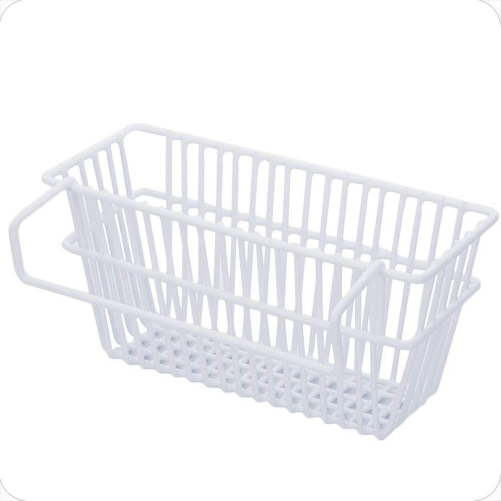 YChoice Rack Decor Kitchen Utensils Sink Drain Rack Racks Pool dishwashing Sponge Kitchen Storage Rack Hanging Basket Rack (Color : Black)