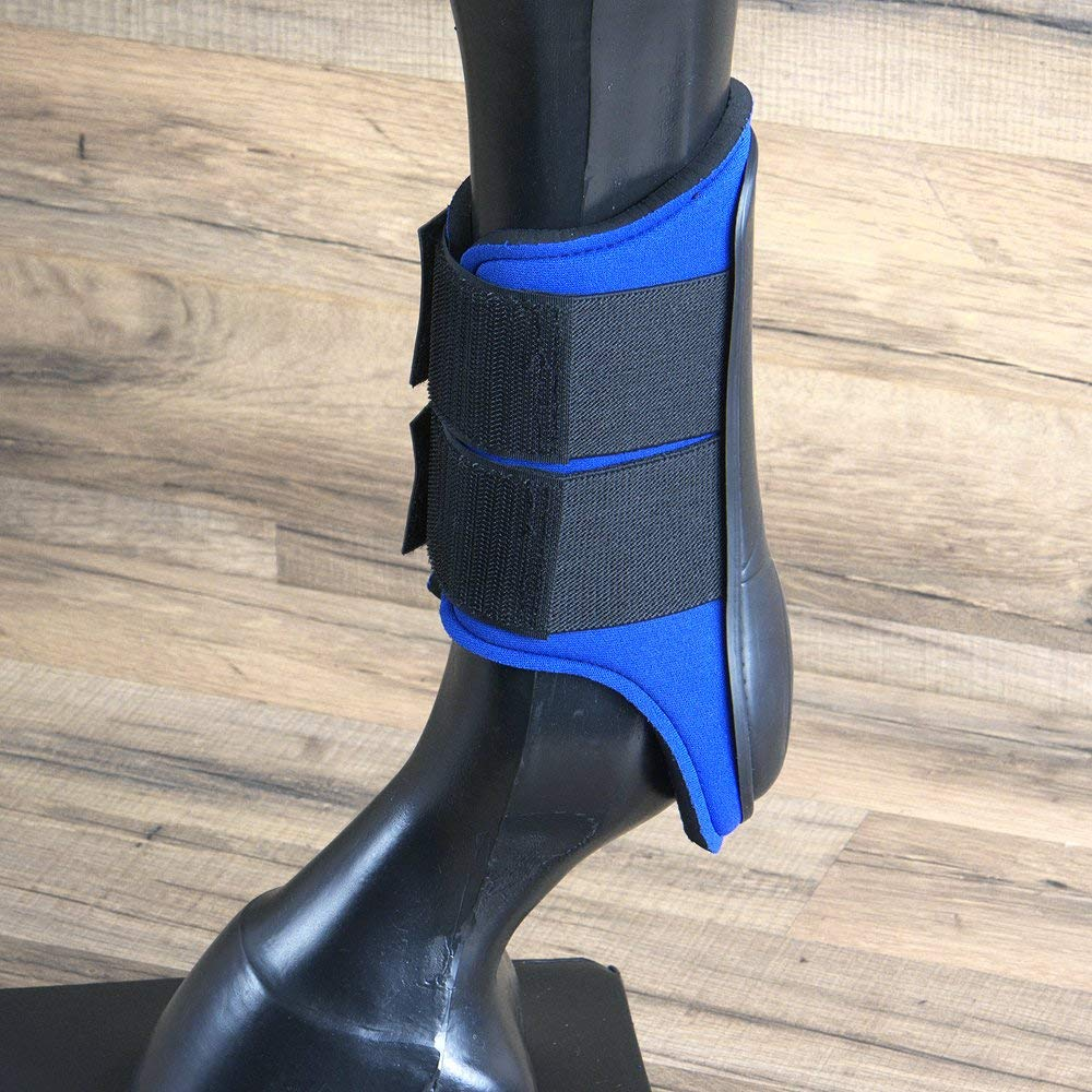 HILASON MEDIUM WESTERN HORSE TACK PROTECTIVE PVC ANKLE LEG BOOT BLUE