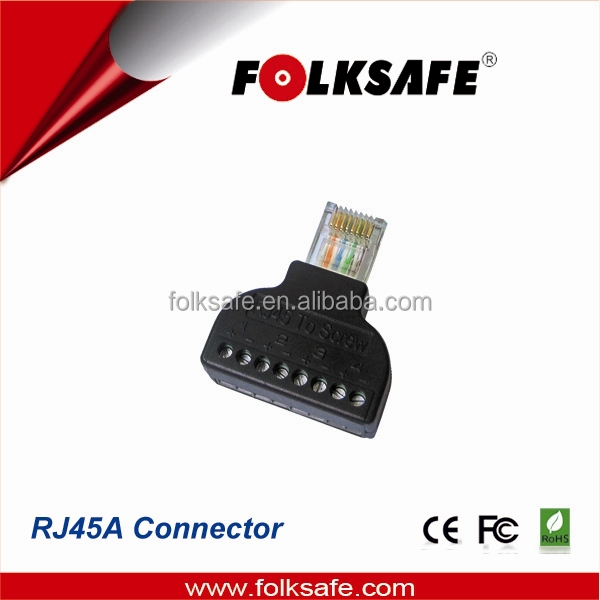 Folksafe rj45 terminal cctv accessories home shopping connector no dual uy