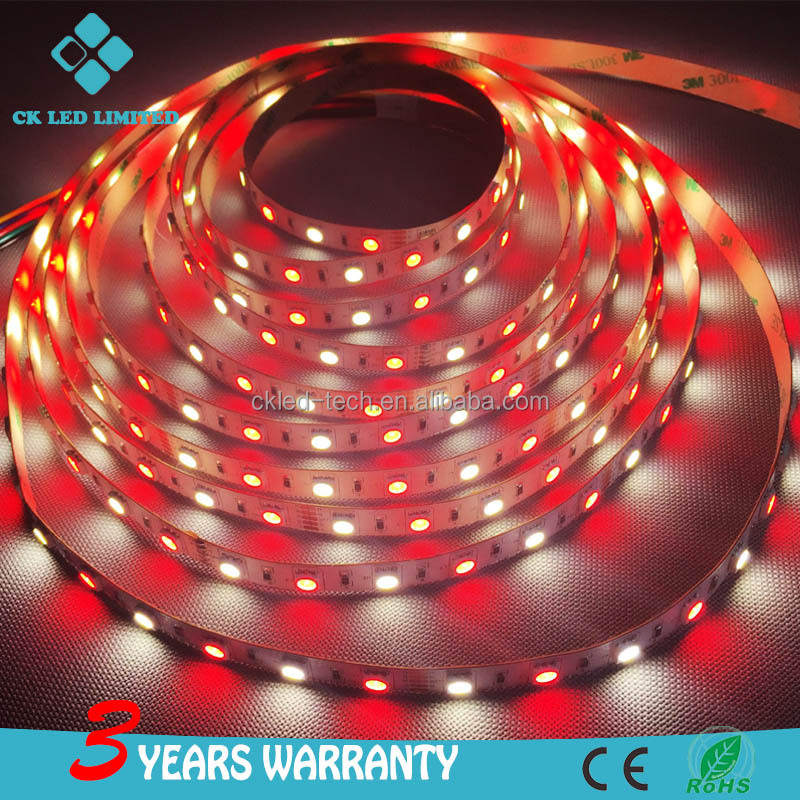 10mm pcb DC12V 14.4w 60 <strong>led</strong> / m SMD 5050 Flexible RGBW <strong>LED</strong> Strip