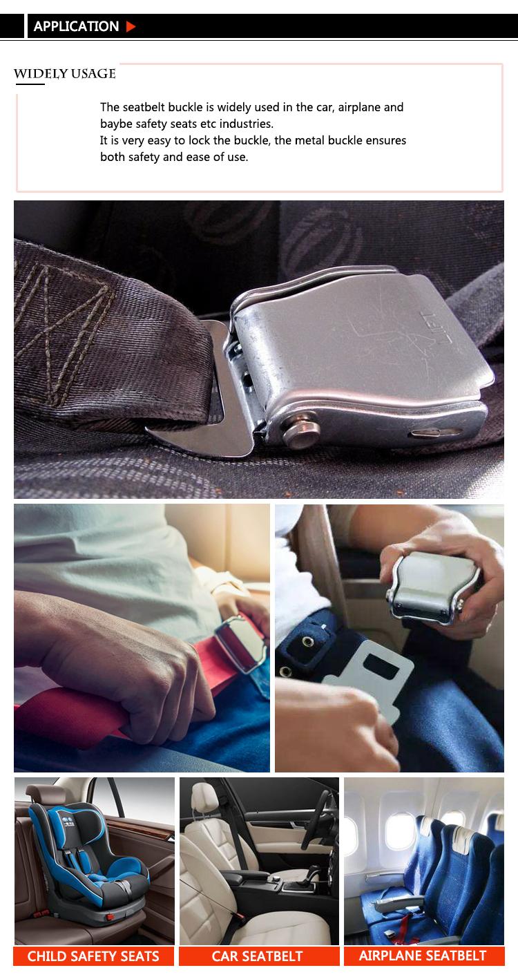 סיטונאי אופנתי מתכת מטוס בטיחות אבזם חגורת בטיחות keychain