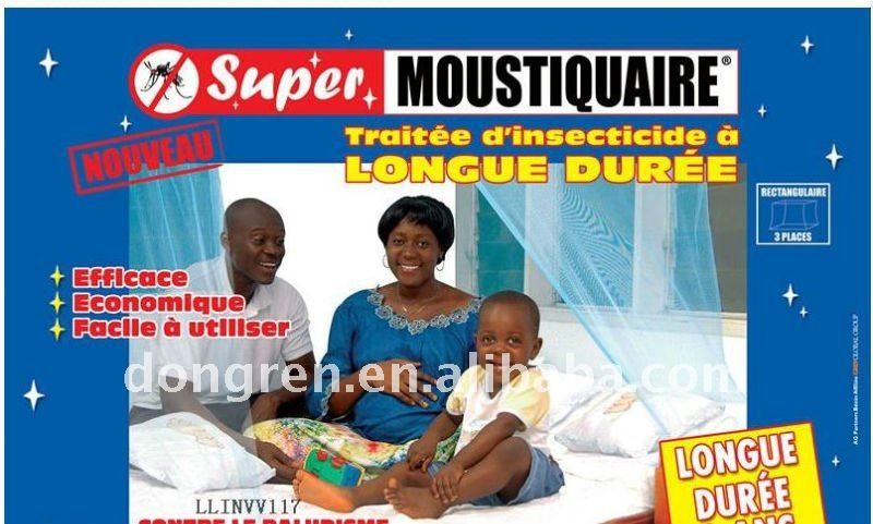 Insecticide Treated Bed Canopy/Mosquito Net with one door