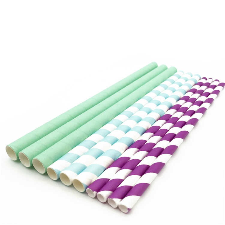 Bubble Tea Paper Straws Disposable Paper Drinking Biodegradable Straws For Party