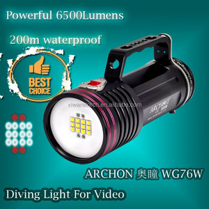 200M Aluminum 6500lumens Scuba Diving Equipment and Accessories WG76W