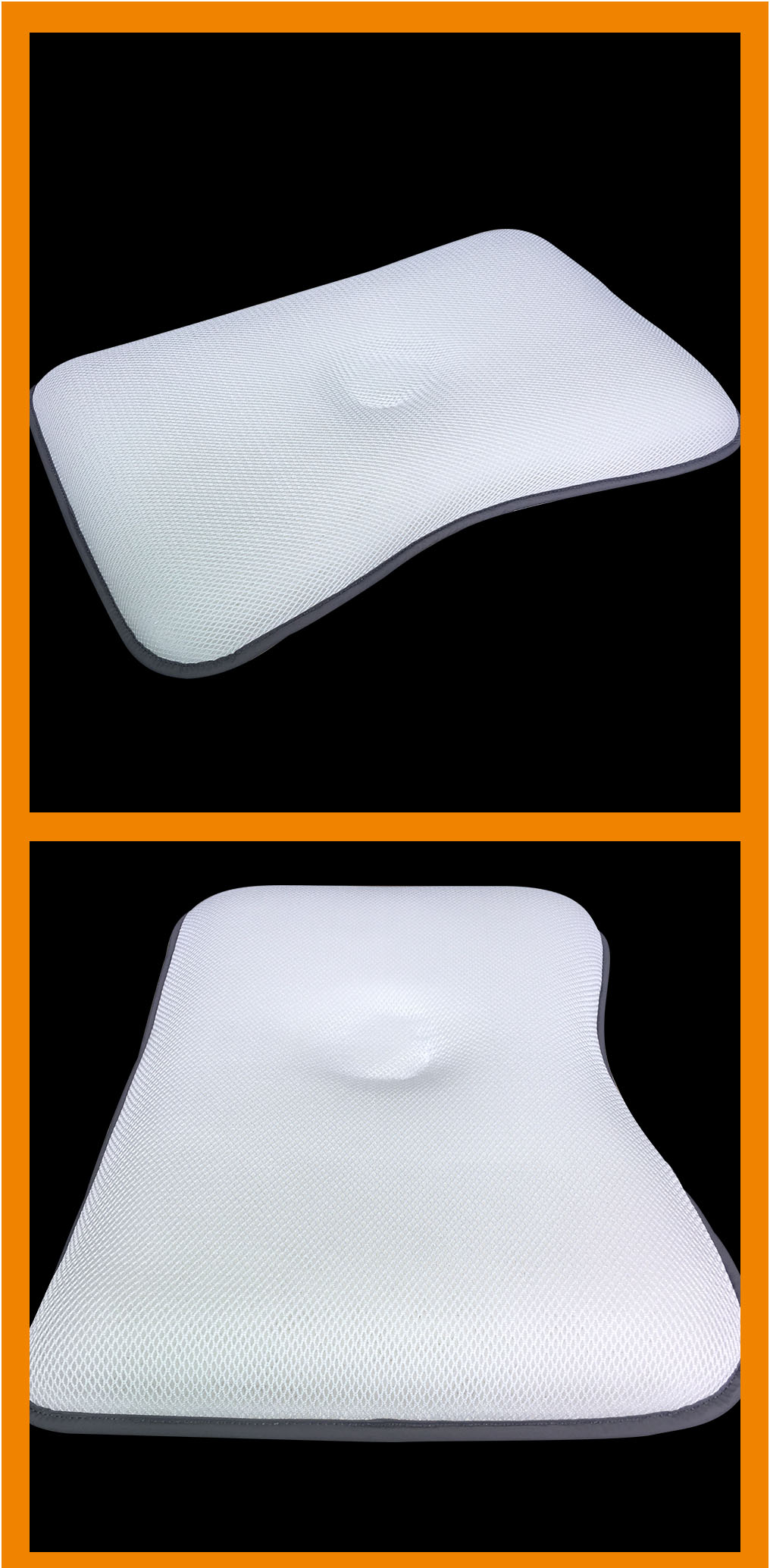 Ergonomics white cool washable clean 3d air spacer fabric pillow