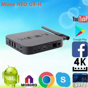 Low Price Minix NEO U9-H S912 2G 16G mobile phone android for  wholesaleAndroid 6 0 TV Box