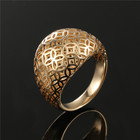 Special Jewellery Brass Material Yellow Gold Hollow Out Gold Ring Designs For Boys