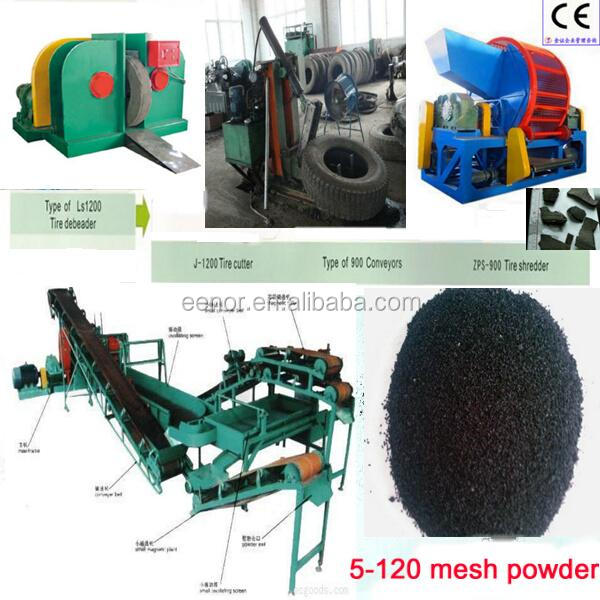 Waste Tyre Recycling Plant / Reclaimed Rubber Machine / Used Tire Recycling Machine
