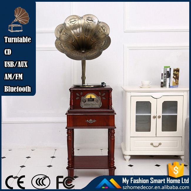 Rain Lane Classic Automatically Stop System Variable Speed Turntable Modern Gramophone For Sale