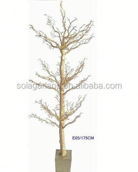 175cm Tall Artificial Dry Trees Christmas Decor Bead Garland Tree Wishing Without Leaves For Indoor