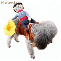 Factory wholesale cosplay costume cowboy dog costumes for pets