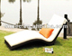 Wicker resin rattan outdoor sun lounger
