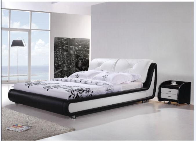 Bedroom modern leather bed 8067 for sale lizz bed oak - Contemporary bedroom sets for sale ...