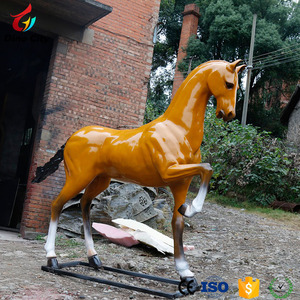 Outdoor full size fiberglass horse statue for sale