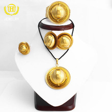 18k gold plated Basketball pattern saudi arabia jewelry sets for Wedding