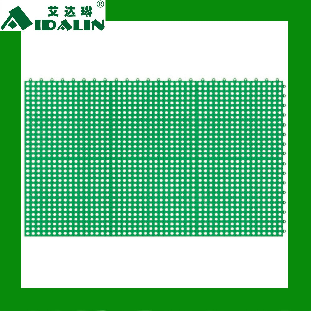 U series commercial modular anti-slip bath floor mat (U5-Green PVC)