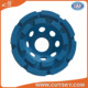 double row diamond cup wheel for granite, stone, concrete