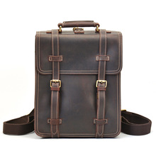 Nieuwe Model Custom Real Lederen Mannen <span class=keywords><strong>Rugzak</strong></span> Crazy Horse Lederen Laptop <span class=keywords><strong>Rugzak</strong></span> Voor Man