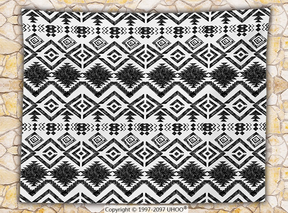 dc33e6c6f78 Get Quotations · Tribal Decor Fleece Throw Blanket Hand Drawn Tribal  Pattern Geometric and Decorative Aztec Design Print Throw