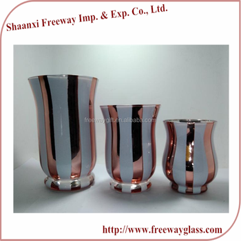 wholesale tall glass hurricane candle holders with plating stripe buy hurricane glass glass. Black Bedroom Furniture Sets. Home Design Ideas