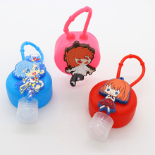 Factory outlets wholesale supply customized cartoon characters multicolor silicone hand sanitizer holder