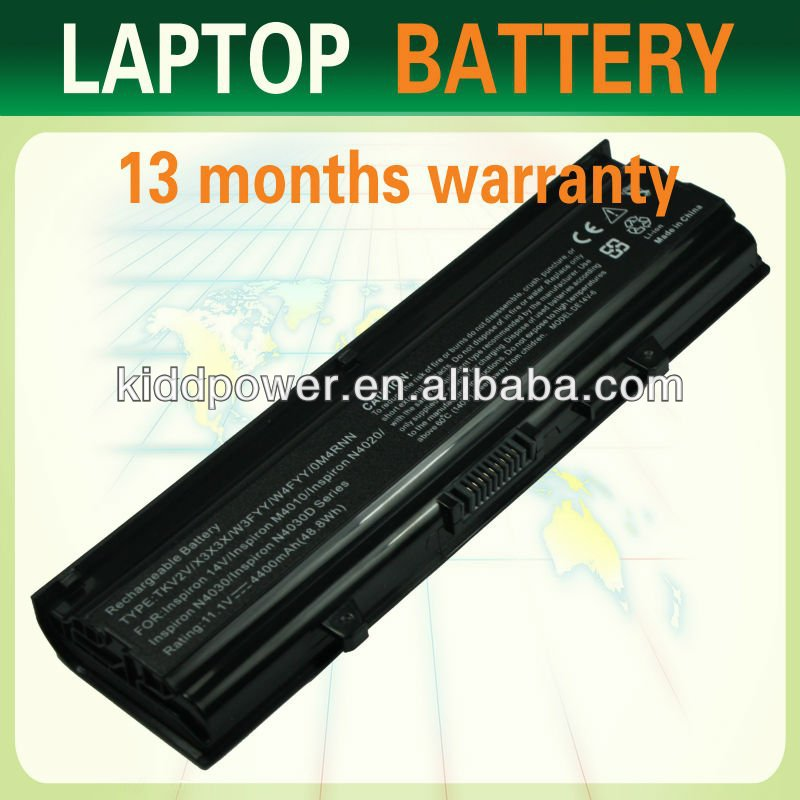 Laptop Battery for Dell Inspiron 910 Inspiron Mini 9 9n Vostro A90 A90n Series (6-cells 11.1V 5200mAh)