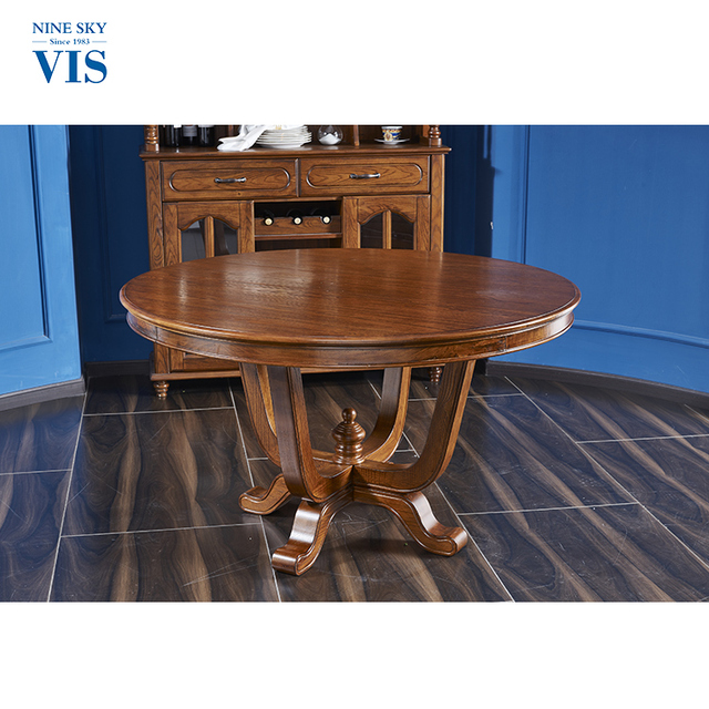 Antique Style Durable Solid Wood Dining Room Table/Round Dining Table