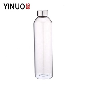 1l 1.5l Frosted High Borosilicate Glass Water Bottle With Lids for Juicing or Beverage Storage