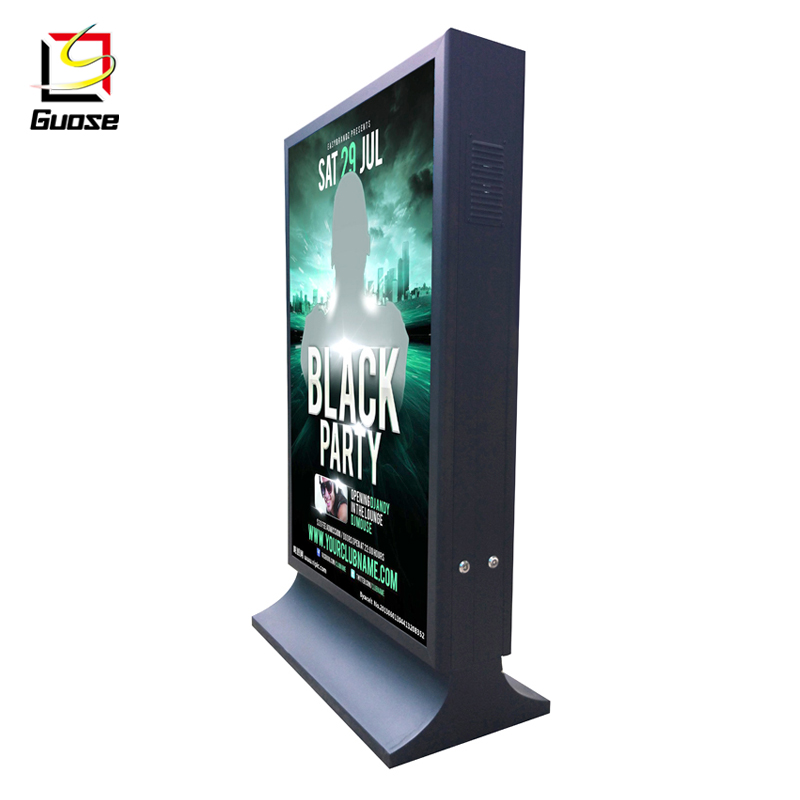free standing outdoor advertisement aluminum profile LED light box