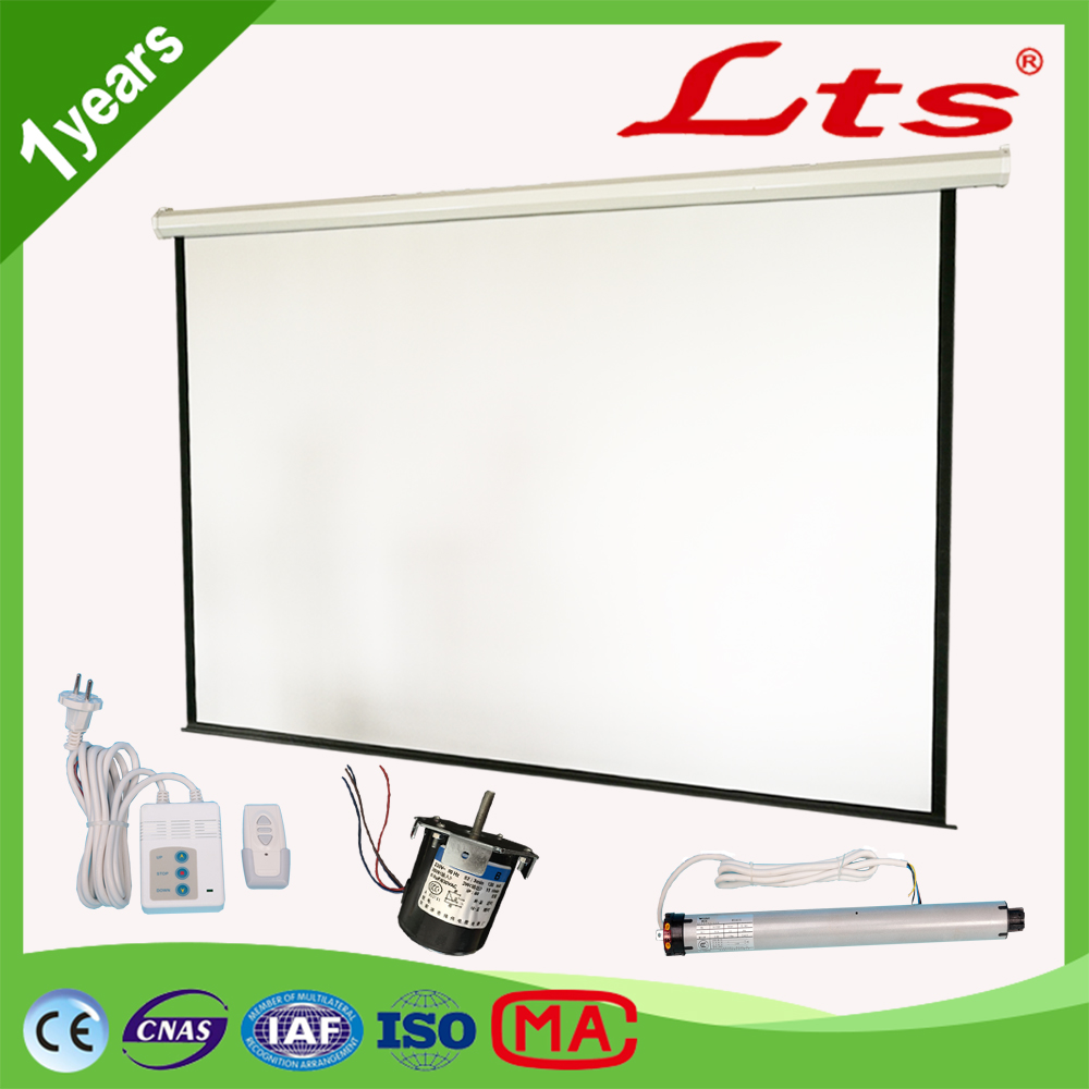 100 inch - 400 inch projector screen motorized / electric projection screen with rf remote control