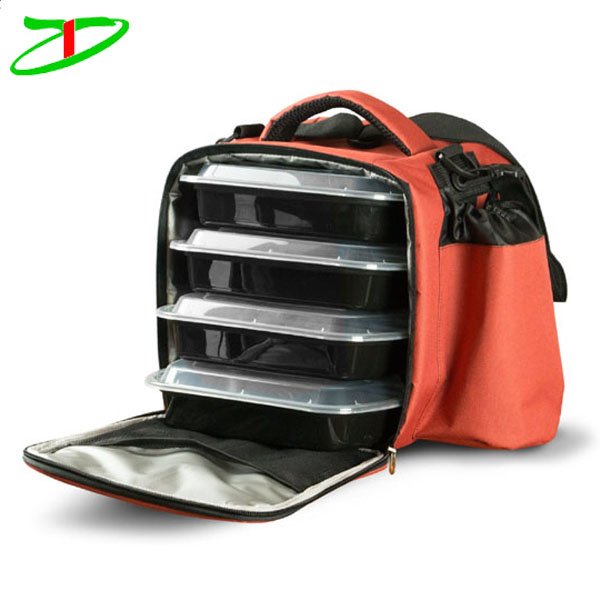 2017 new trendy fully insulated fitness food cooler bag meal prep lunch bag