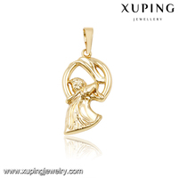 31508-guangzhou jewelry 14k gold engraved pendants