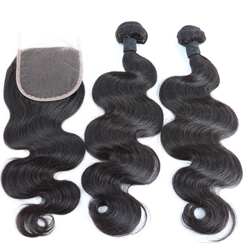 High Quality Sample Order Accept Body Wave Lace Closure Full Cuticle Aligned Hair