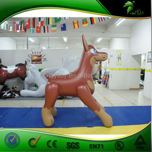 Moving Funny Inflatable Cartoon Brown Short Tail Dog Animals
