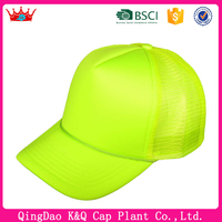 Fast delivery wholesale factory price neon snapback trucker hats