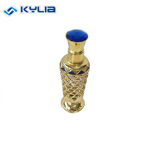 Trade Assurance Great Quality Golden Metal Perfume Bottle
