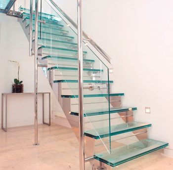 Interior Stainless Steel Beam Glass Treads Staircase Design Buy